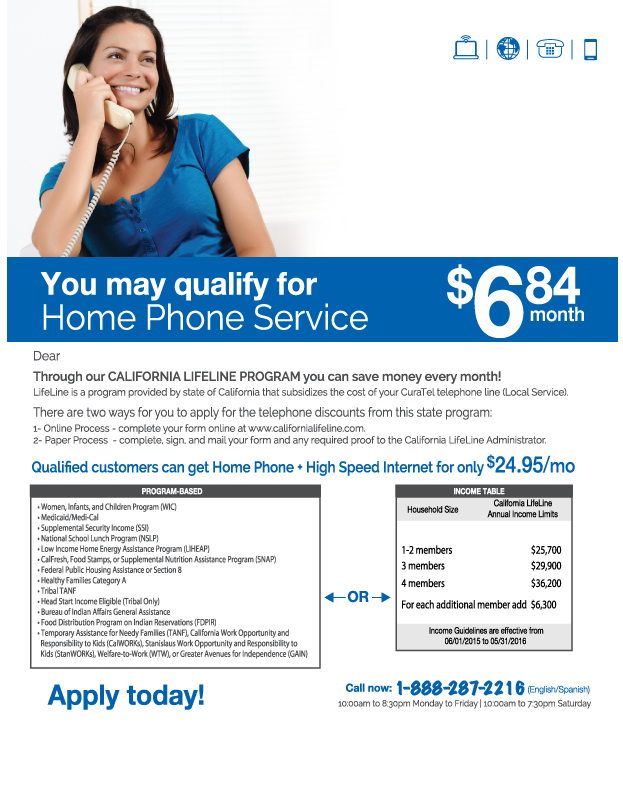 Home Phone Service $6.81 month